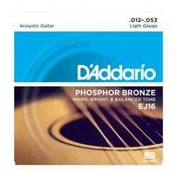 Cordes guitare acoustique phosphor bronze EJ16 light