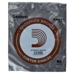 Corde de guitare folk phosphor Bronze 023 Daddario PB023