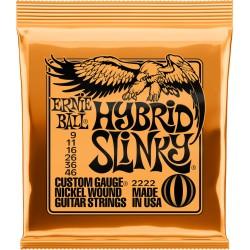 Cordes guitare électrique 9-46 Ernieball Hybrid Slinky