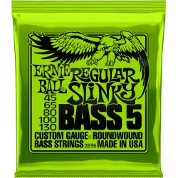 Cordes de basse 5 cordes 45-130 Ernie Ball Regular