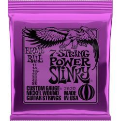 Jeu de cordes guitare électrique Ernieball Power slinky/ 7c 11-14-18p-28-38-48-58