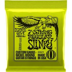 Jeu de cordes guitare électrique Ernieball Regular slinky/ 7c 10-13-17-26-36-46-56