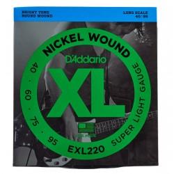Cordes de basse 40-95 Daddario EXL220