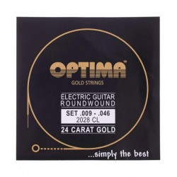 Cordes électrique Optima Gold Round wound 9-46