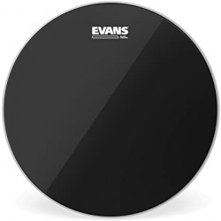 Peau de tom de 16 Evans Black Chrome