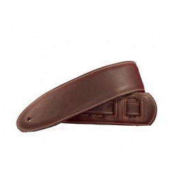 Sangle guitare cuir Bourbon Strap daim marron