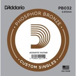 Corde de guitare folk phosphor Bronze 032 Daddario PB032