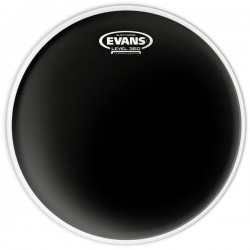 Peau de tom de 12 Evans Black Chrome