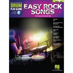 Easy Rock Songs Drum Play-Along Volume 42