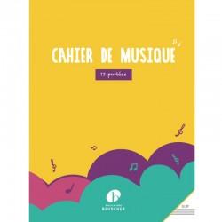 Cahier de musique 12 portées grand format