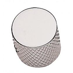 Bouton Tele metal chrome à tête plate