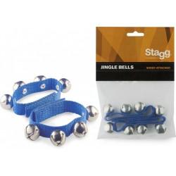 Bracelet de grelots bleus spécial enfant