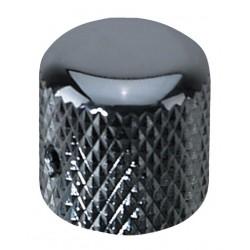 Bouton de potentiometre chromé tête ronde