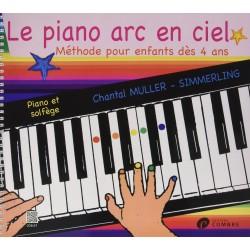 Méthode Le piano Arc En Ciel pour les enfants dès 4 ans