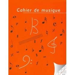 Cahier de musique 8 portées et carreaux Seyes