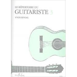 Répertoire du guitariste volume 3 Yvon Rivoal
