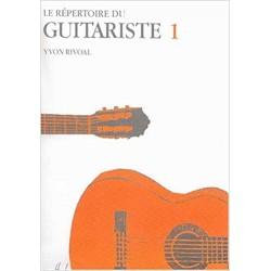 Répertoire du guitariste volume 1 Yvon Rivoal