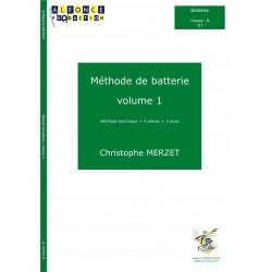 Méthode de batterie Christophe Merzet volume 1