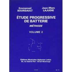 Etude Progressive de Batterie Volume 2  Boursault Lajudie