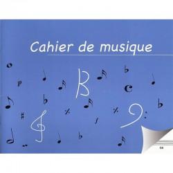 Cahier de musique 8 portées petit format
