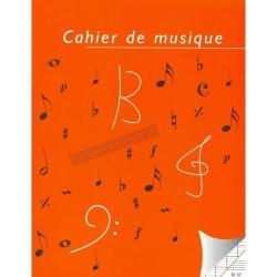 Cahier de musique 12 portées et carreaux grand format