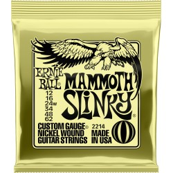 Jeu de cordes guitare électrique Ernieball Mammoth slinky 12-16-24w-34-48-62