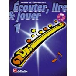 Ecouter lire & jouer flute traversière volume 1 CD
