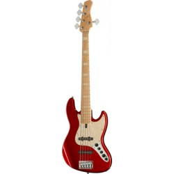 Basse SIRE Marcus Miller V7 Swamp Ash-5 BMR Bright Metallic Red en housse