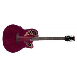 Guitare électro-acoustique Ovation Celebrity CE44-RR Ruby Red