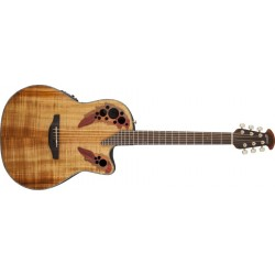 Guitare électro-acoustique Ovation Celebrity Elite Plus Figured Koa CE44P-FKOA