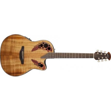 Guitare électro-acoustique Ovation Celebrity Elite Plus Figured Koa CE44P-FKOA