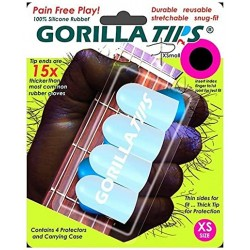 Protège doigts pour guitariste Gorilla Tips taille XS