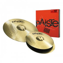 Pack cymbales Paiste 101 Brass essential 14-18
