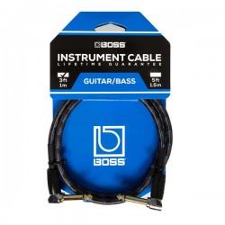 Câble de patch jack coudé Boss BIC-3AA 1m