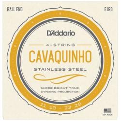Cordes pour Cavaquinho D'addario - Light 4c-Acier 11-13-23-28