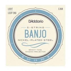 Jeu de cordes banjo 5 cordes Daddario EJ60