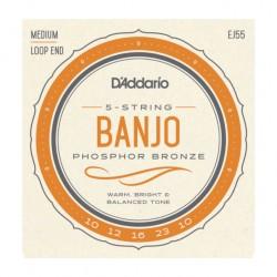 Jeu de cordes banjo 5 cordes Daddario phospor bronze EJ55
