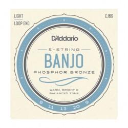 Jeu de cordes banjo 5 cordes Daddario phospor bronze EJ69