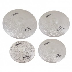 Pack cymbales silencieuses Obera Mute 4 cymbales