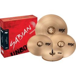 Pack cymbales Sabian B8X performance 14-16-20 crash 18 offerte