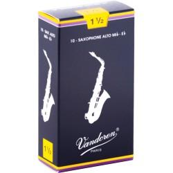 Boite de 10 anches saxophone alto force 1.5 Vandoren