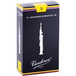 Boite de 10 anches saxophone soprano force 3