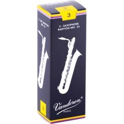 Boite de 5 anches saxophone Baryton Vandoren force 3