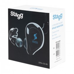 Ecouteurs Stagg pour Ear monitor SPM-435 noirs