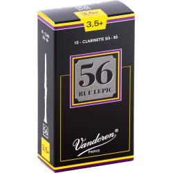 Boite de 10 anches de clarinette Vandoren 56 Rue Lepic force 3.5 plus