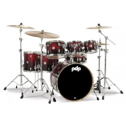 Batterie PDP concept Maple 7 futs Red to black sparkle