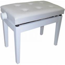 Banquette piano Oqan blanche matte assise skai blanc