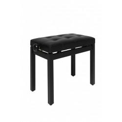 Banquette piano Stagg noire mat assise skai noir