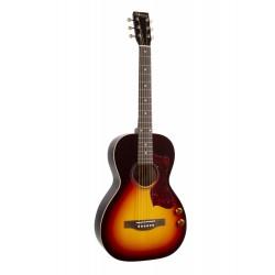 Guitare folk Norman Protégé B18 parlor Cherry Burst GT Q discrete