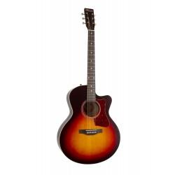 Guitare électro Norman Protégé B18 CW Mini Jumbo Cherry Burst
